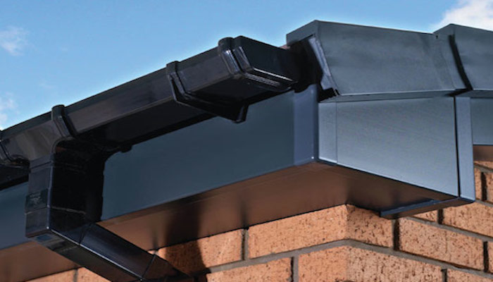 Black PVC Gutters Fascia and Soffit