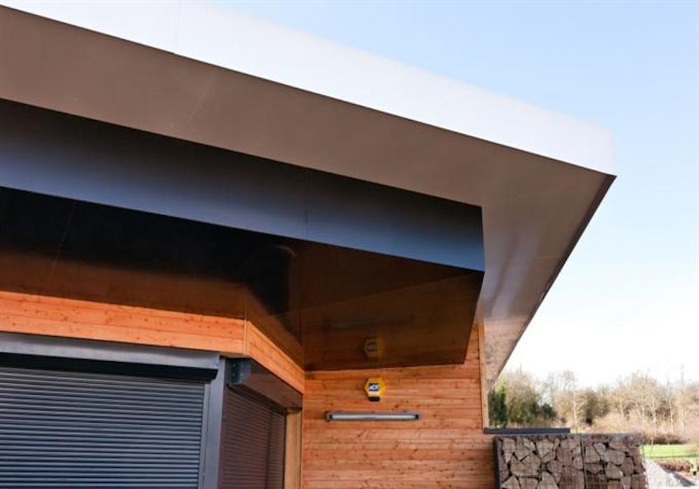 Architectural Soffit Fascia : Architectural aluminium wall capping fascia and soffit