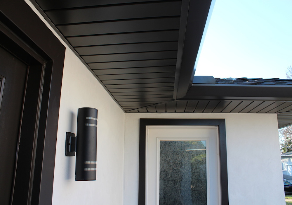 Seamless Aluminium Fascia and Soffit Black