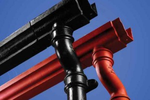 Cast Iron Gutters and Downpipe