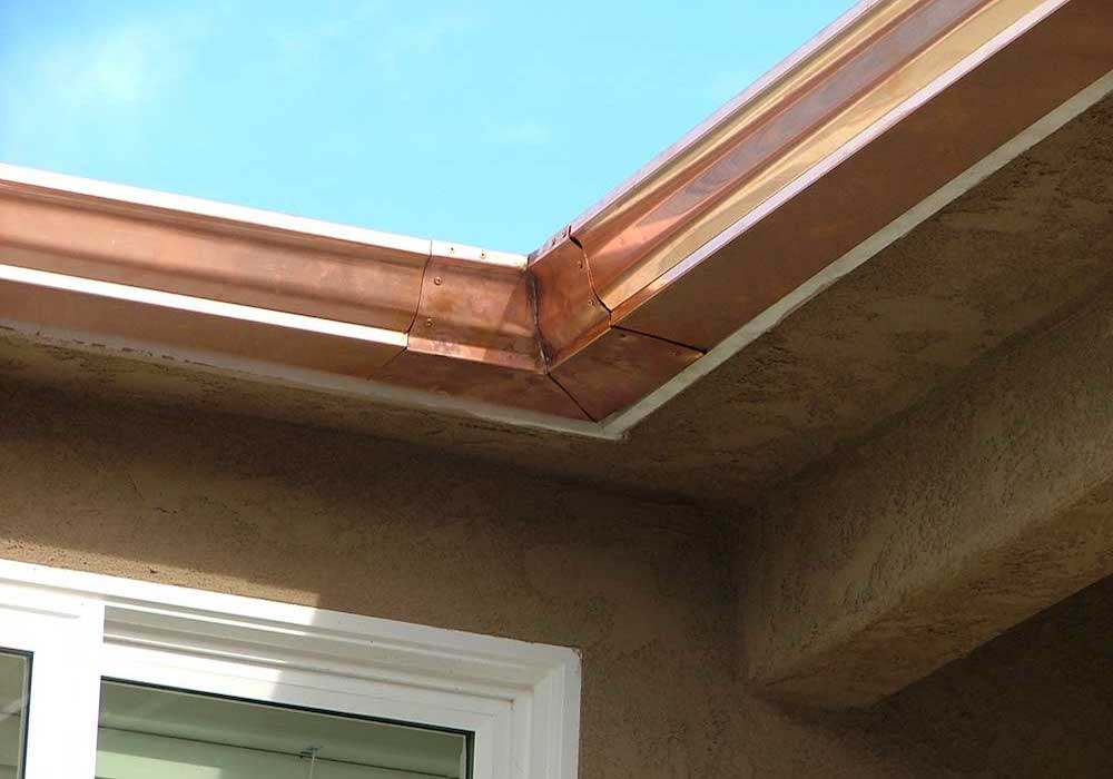 Seamless Aluminium Gutters Copper