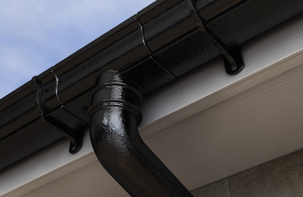 Heritage Molded Cast Iron Gutters and Downpipe