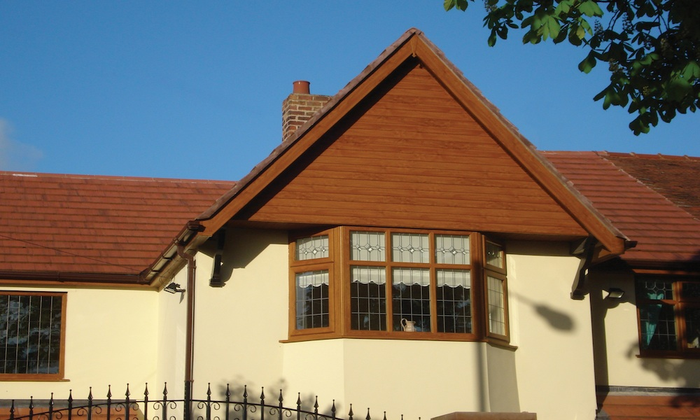 Woodgrain Shiplap PVC Cladding Fascia and Soffit