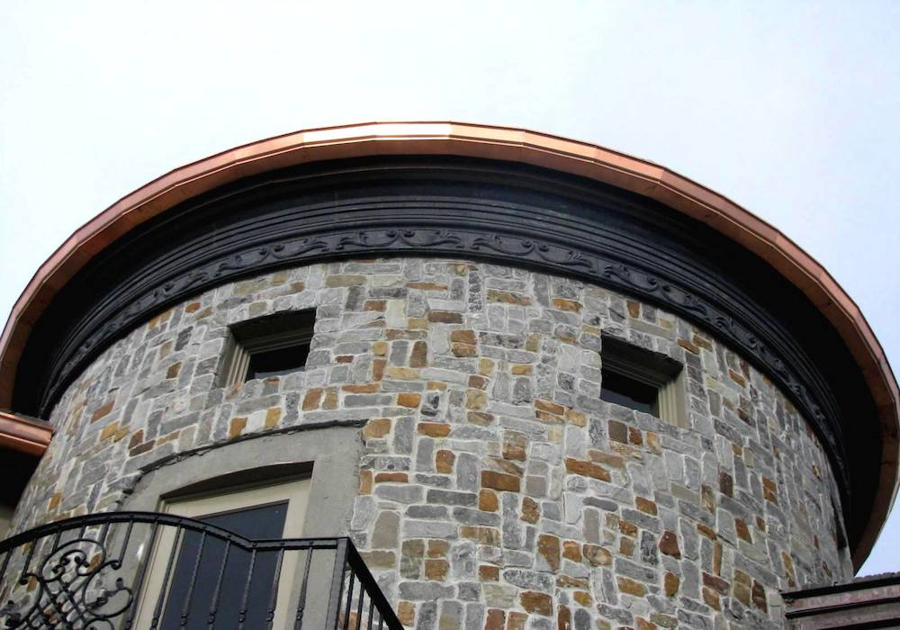 Seamless Radius Copper Gutters